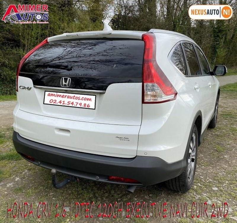 Photo 4 de l'offre de HONDA CR-V 1.6 I-DTEC 120CH EXECUTIVE NAVI CUIR 2WD à 12200€ chez Amimer autos