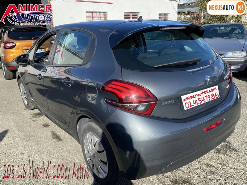 Photo 4 de l'offre de PEUGEOT 208 1.6 BLUEHDI 100CH ACTIVE 5P à 10990€ chez Amimer autos