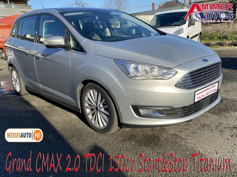 Ford GRAND C-MAX 2.0 TDCI 150CH STOP&START TITANIUM 7 PLACES Diesel GRIS LUNAIRE Occasion à vendre