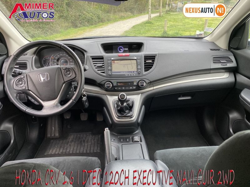 Photo 5 de l'offre de HONDA CR-V 1.6 I-DTEC 120CH EXECUTIVE NAVI CUIR 2WD à 12200€ chez Amimer autos