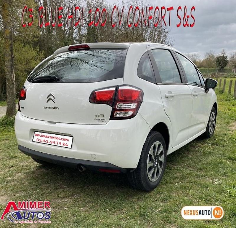 Photo 3 de l'offre de CITROEN C3 BLUEHDI 100 CONFORT S&S à 8490€ chez Amimer autos