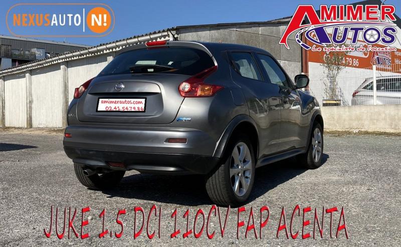 Photo 3 de l'offre de NISSAN JUKE 1.5 DCI 110CH FAP ACENTA à 7990€ chez Amimer autos