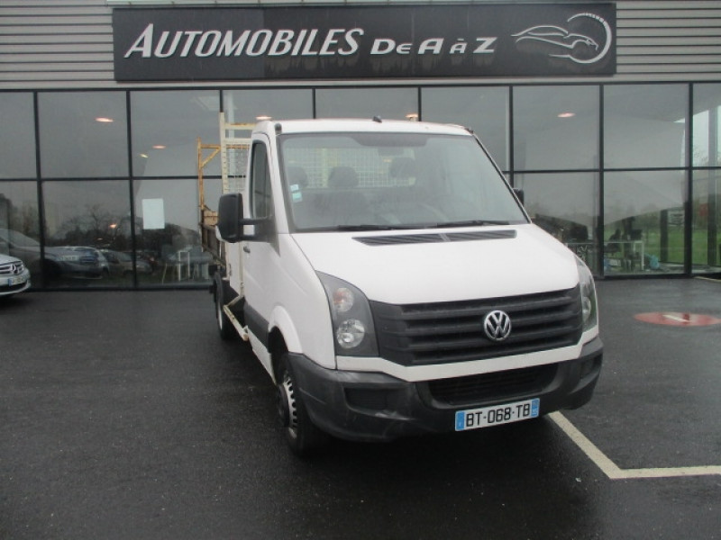 Volkswagen CRAFTER FG 50A 2.0 TDI 109CH BENNE ET COFFRE Diesel BLANC Occasion à vendre