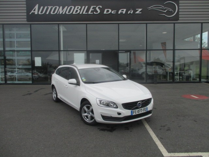 Volvo V60 D2 120CH KINETIC BUSINESS GEARTRONIC Diesel BLANC Occasion à vendre