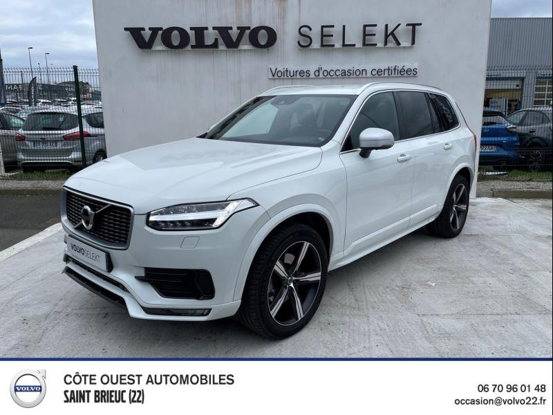 Volvo XC90 D5 AdBlue AWD 235ch R-Design Geartronic 7 places Diesel Blanc Glace Occasion à vendre