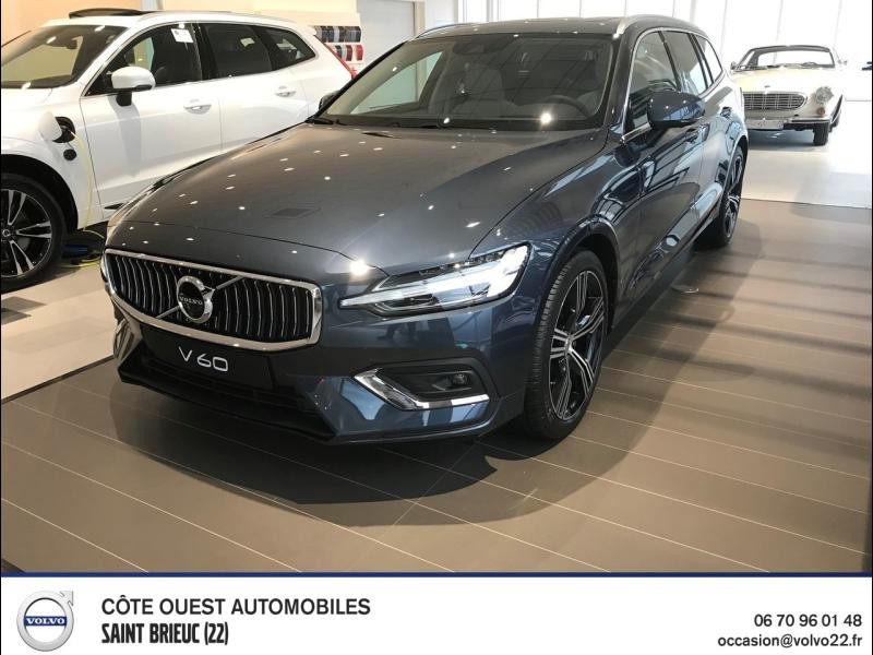 Volvo V60 B4 197ch AdBlue Inscription Luxe Geartronic Diesel/Micro-Hybride Bleu Denim Métallisé Occasion à vendre
