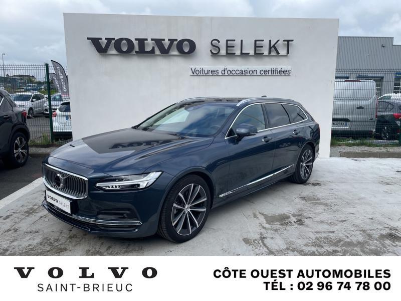 Volvo V90 B4 Adblue 197ch Inscription Luxe Geartronic Diesel/Micro-Hybride Bleu Denim Occasion à vendre