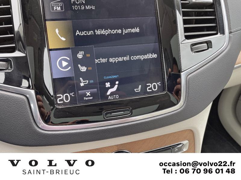 Photo 21 de l'offre de VOLVO XC90 T8 Twin Engine 303 + 87ch Inscription Luxe Geartronic 7 places à 61990€ chez Côte Ouest Automobiles