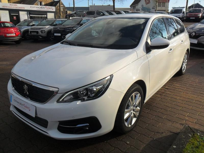 Peugeot 308 SW 1.5 BlueHDi 130ch S&S Active Business EAT6 Diesel Blanc Occasion à vendre
