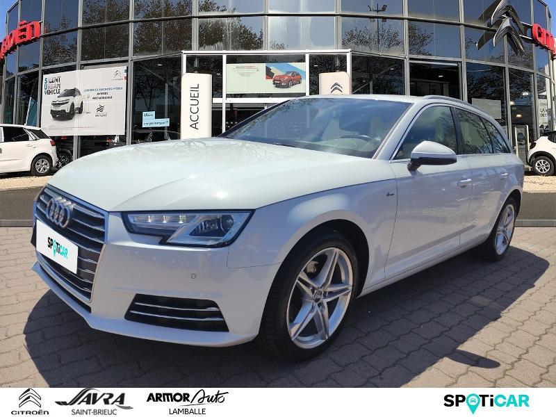 Audi A4 Avant 2.0 TDI 150ch S line S tronic 7 Diesel Blanc Occasion à vendre