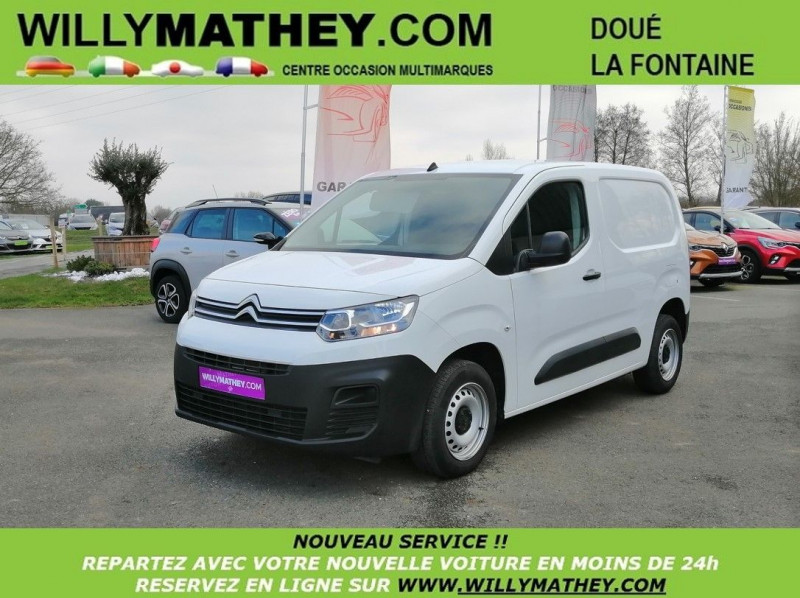 Photo 1 de l'offre de CITROEN BERLINGO VAN M 1000KG BLUEHDI 100 S&S CLUB DISPO DE SUITE à 17990€ chez Willy Mathey automobiles