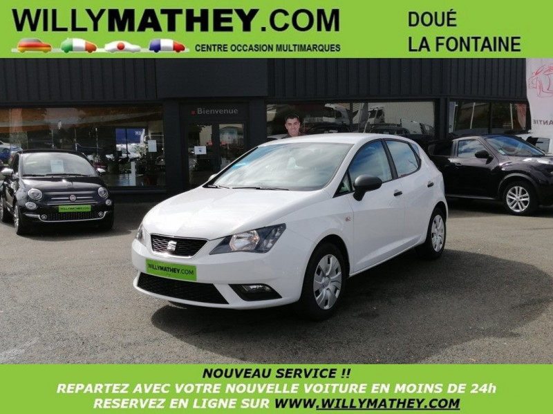 Seat IBIZA 1.4 TDI 75CH REFERENCE Diesel BLANC CANDY Occasion à vendre