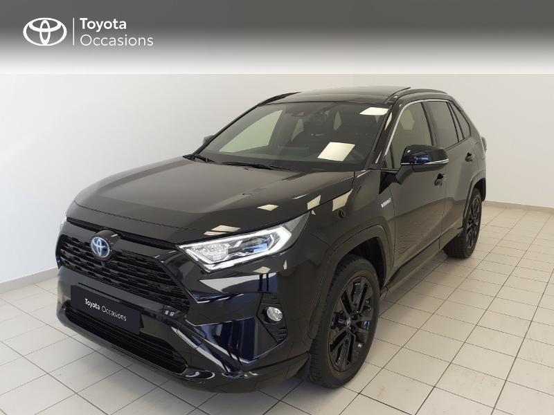 Toyota RAV4 Hybride 222ch Black Edition AWD-i MY21 Hybride NOIR METALLISE Occasion à vendre