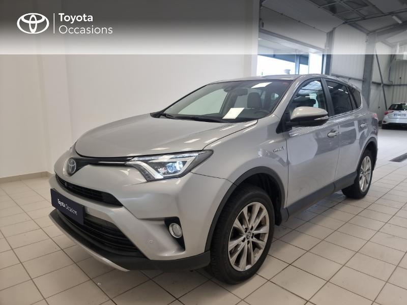 Toyota RAV4 197 Hybride Lounge AWD CVT Hybride gris clair Occasion à vendre