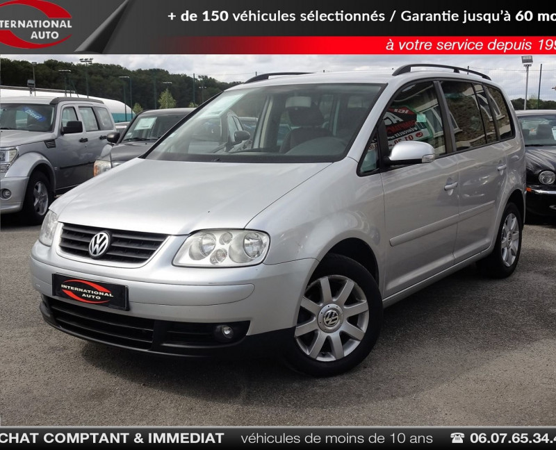Volkswagen TOURAN 1.6 FSI 115CH CONFORT 7 PLACES Essence GRIS C Occasion à vendre