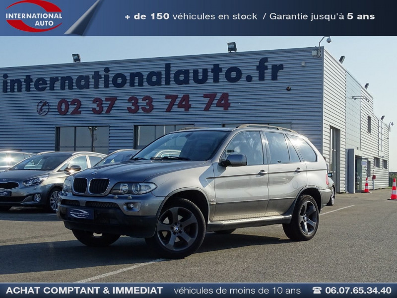 Photo 1 de l'offre de BMW X5 (E53) 3.0DA 218CH PACK LUXE à 10390€ chez International Auto Auneau