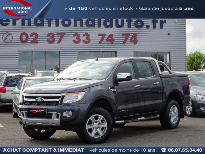 Ford RANGER 2.2 TDCI 150CH DOUBLE CABINE LIMITED 4X4 Diesel GRIS F Occasion à vendre