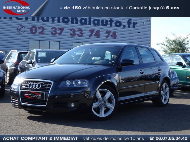 Audi A3 SPORTBACK 2.0 TDI 170CH DPF S LINE Diesel NOIR Occasion à vendre