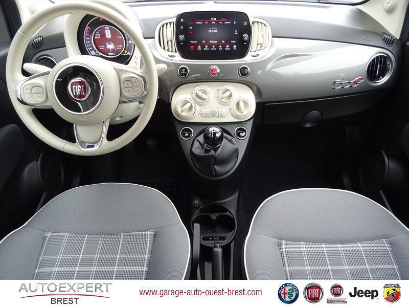 Photo 10 de l'offre de FIAT 500C 1.2 8v 69ch Eco Pack Lounge Euro6d à 13490€ chez Garage Auto de l'Ouest - Brest