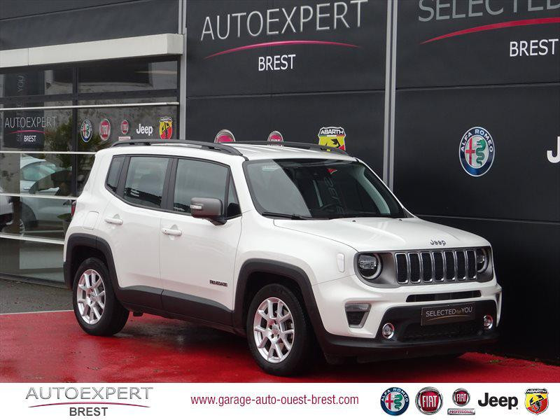 Jeep Renegade 1.3 GSE T4 150ch Limited BVR6 Essence Alpine White Occasion à vendre