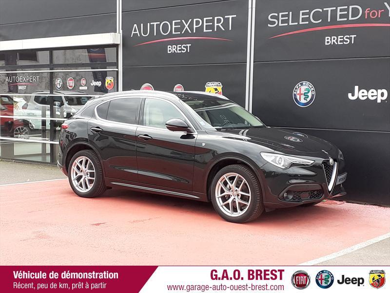 Alfa Romeo Stelvio 2.2 Diesel 210ch Ti Q4 AT8 MY20 Diesel Noir Vulcano Occasion à vendre