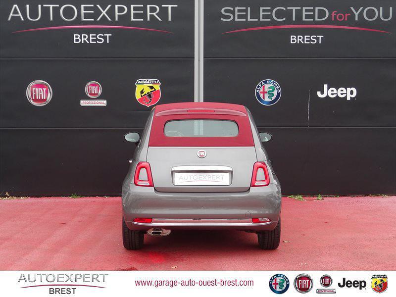 Photo 7 de l'offre de FIAT 500C 1.2 8v 69ch Eco Pack Lounge Euro6d à 13490€ chez Garage Auto de l'Ouest - Brest