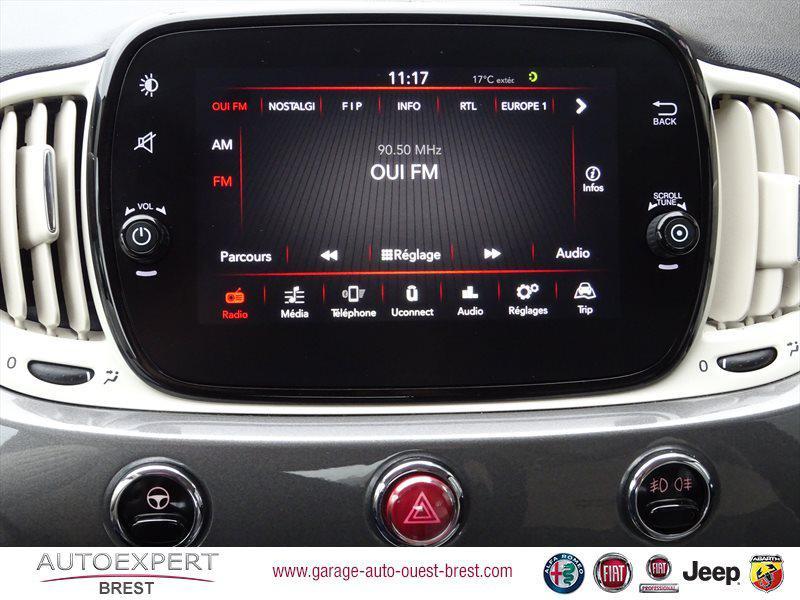 Photo 12 de l'offre de FIAT 500C 1.2 8v 69ch Eco Pack Lounge Euro6d à 13490€ chez Garage Auto de l'Ouest - Brest
