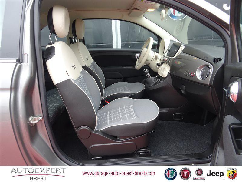 Photo 15 de l'offre de FIAT 500C 1.2 8v 69ch Eco Pack Lounge Euro6d à 13490€ chez Garage Auto de l'Ouest - Brest