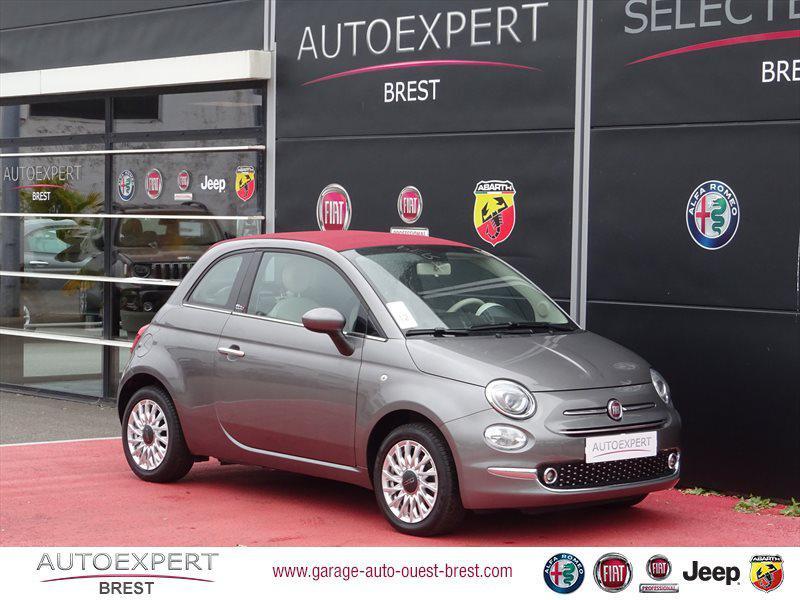 Photo 1 de l'offre de FIAT 500C 1.2 8v 69ch Eco Pack Lounge Euro6d à 13490€ chez Garage Auto de l'Ouest - Brest