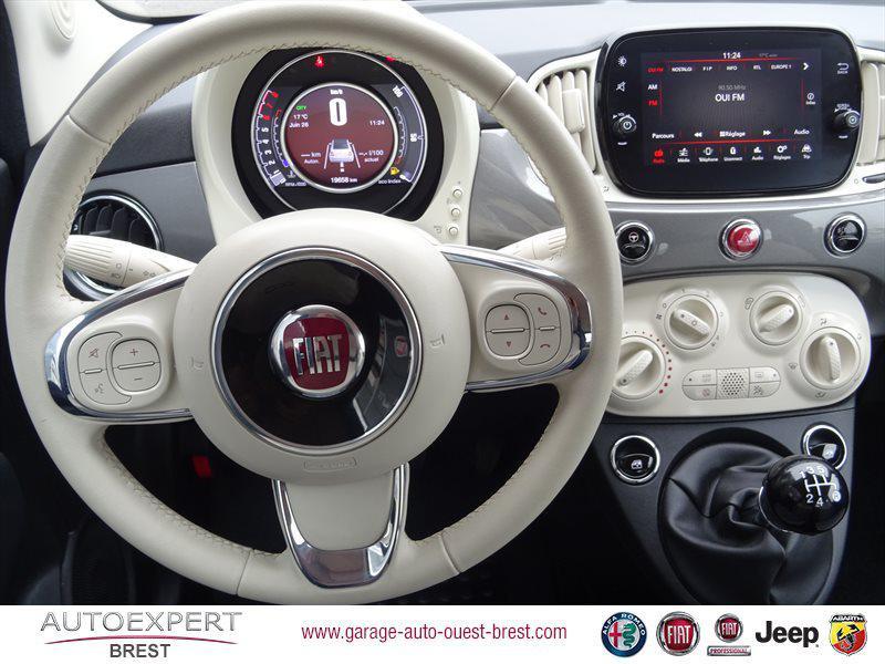 Photo 9 de l'offre de FIAT 500C 1.2 8v 69ch Eco Pack Lounge Euro6d à 13490€ chez Garage Auto de l'Ouest - Brest