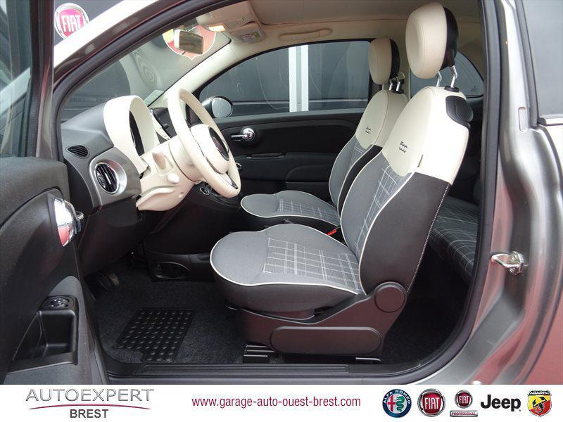 Photo 14 de l'offre de FIAT 500C 1.2 8v 69ch Eco Pack Lounge Euro6d à 13490€ chez Garage Auto de l'Ouest - Brest