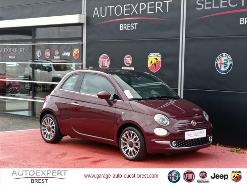 Fiat 500 1.2 8v 69ch Eco Pack Star 109g Essence Coloris Métal Opéra Bordeaux Occasion à vendre
