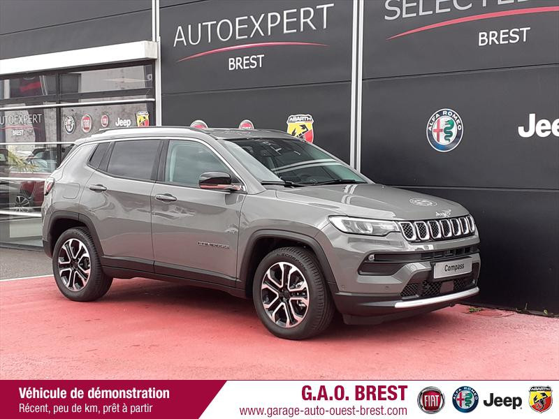 Jeep Compass 1.3 GSE T4 150ch Limited 4x2 BVR6 Essence Sting Gray Occasion à vendre