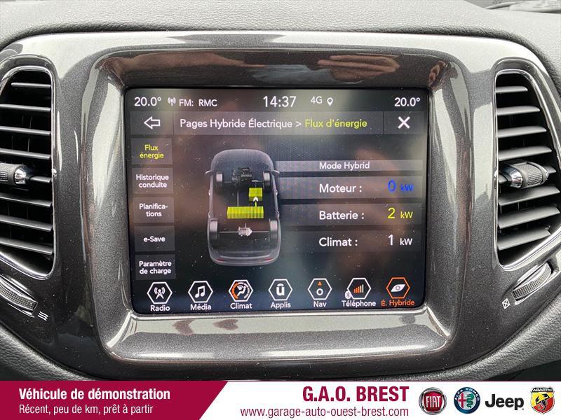 Photo 11 de l'offre de JEEP Compass 1.3 GSE T4 240ch S 4xe PHEV AT6 à 36990€ chez Garage Auto de l'Ouest - Brest