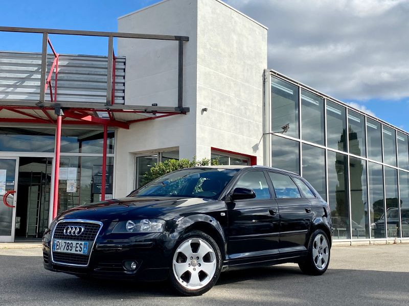 Audi A3 Sportback 2.0 TDI 140ch Ambition Diesel Noir Occasion à vendre