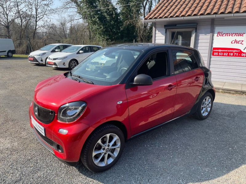 Smart FORFOUR 71CH PASSION Essence ROUGE Occasion à vendre