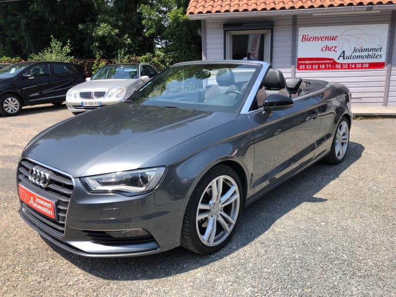 Audi A3 CABRIOLET 1.4 TFSI 125CH S LINE S TRONIC 7 Essence GRIS FONCE Occasion à vendre