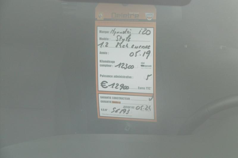 Photo 5 de l'offre de HYUNDAI I20 1.2 84CH INTUITIVE à 12900€ chez Garage Deletre