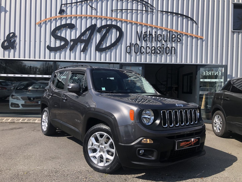 Jeep RENEGADE 1.6 MULTIJET S&S 120CH LONGITUDE BUSINESS Diesel ANTHRACITE Occasion à vendre