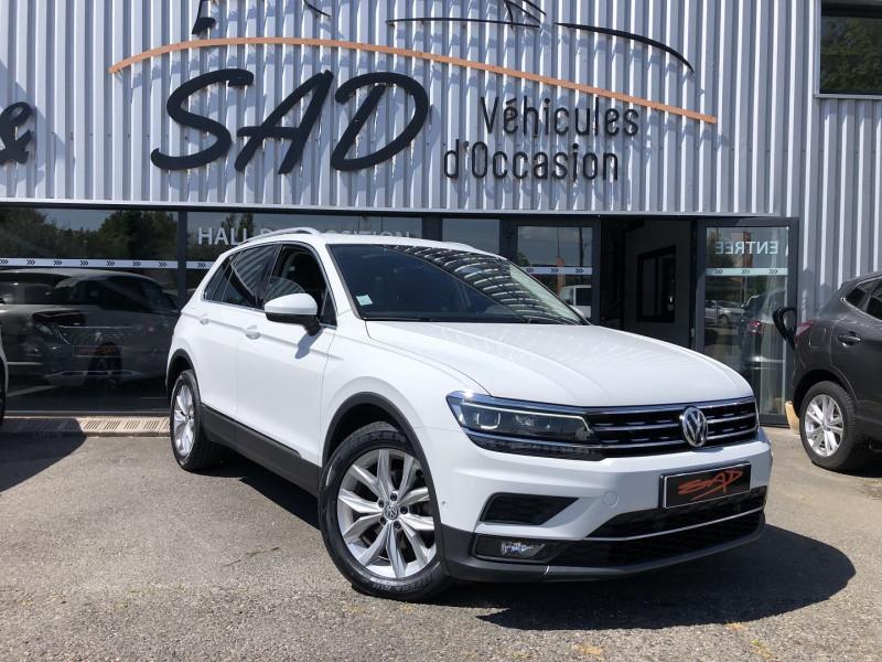 Volkswagen TIGUAN 2.0 TDI 150CH CARAT DSG7 Diesel BLANC Occasion à vendre