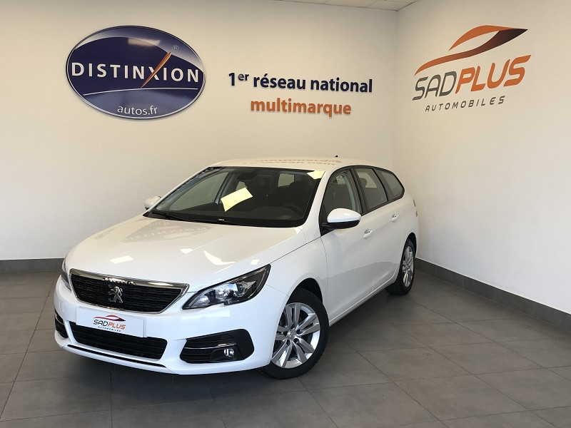 Peugeot 308 SW 1.5 BLUEHDI 130CH S&S ACTIVE BUSINESS EAT8 Diesel BLANC Occasion à vendre