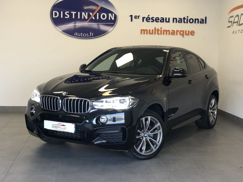 Bmw X6 (F16) XDRIVE 40DA 313CH M SPORT 2018 Diesel NOIR Occasion à vendre