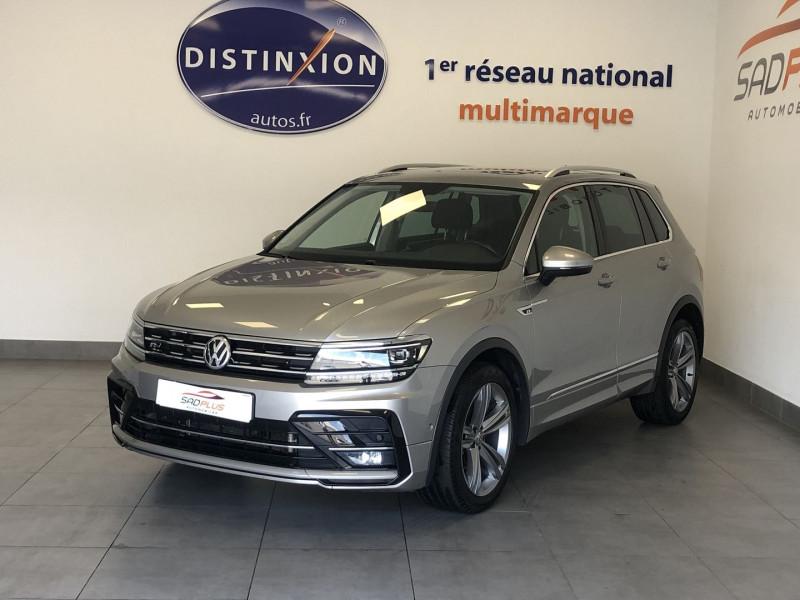 Volkswagen TIGUAN 2.0 TDI 150CH CARAT DSG7 EURO6D-T Diesel GRIS FONÇÉ Occasion à vendre