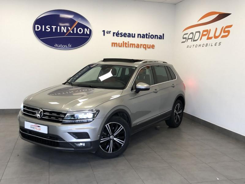 Volkswagen TIGUAN 2.0 TDI 150CH CARAT EXCLUSIVE DSG7 Diesel GRIS F Occasion à vendre