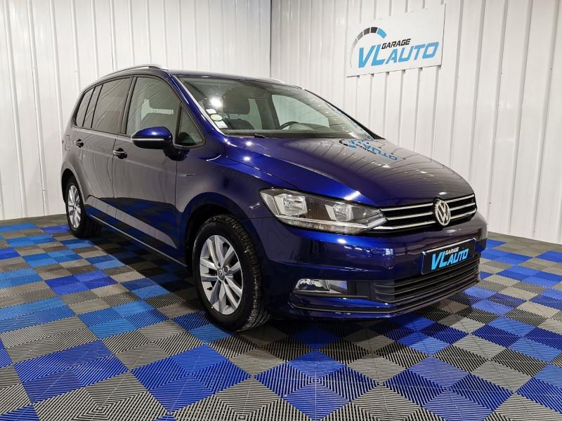 Volkswagen TOURAN 1.6 TDI 110CH BLUEMOTION TECHNOLOGY FAP CONFORTLINE BUSINESS 7 PLACES Diesel BLEU C Occasion à vendre
