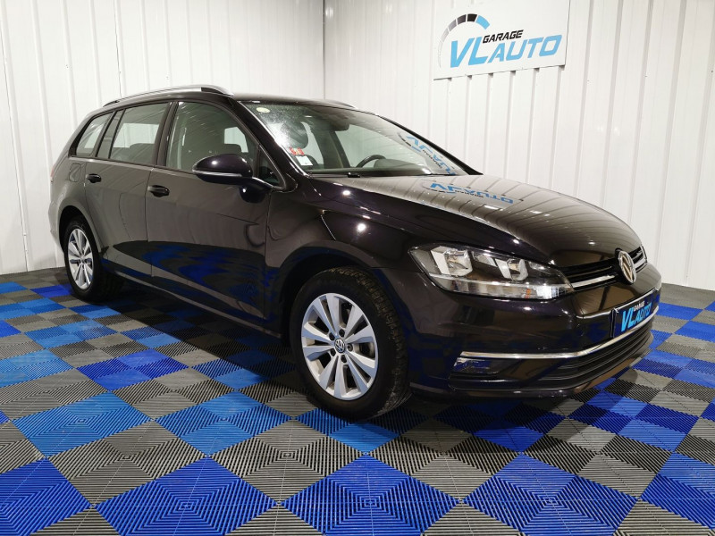 Volkswagen GOLF VII SW 1.6 TDI 115CH FAP BLUEMOTION TECHNOLOGY CONFORTLINE BUSINESS DSG7 Diesel NOIR Occasion à vendre