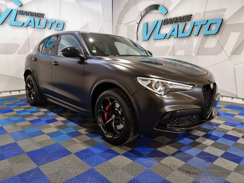 Alfa Romeo STELVIO 2.9 V6 510CH QUADRIFOGLIO Q4 AT8 Essence NOIR Occasion à vendre