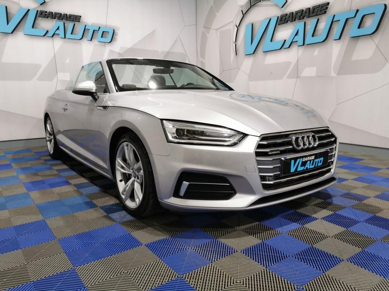 Audi A5 CABRIOLET 2.0 TFSI 252CH DESIGN LUXE QUATTRO S TRONIC 7 Essence GRIS Occasion à vendre