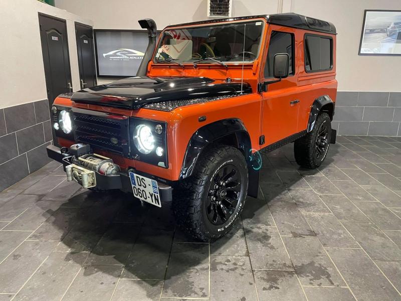 Land-Rover DEFENDER SW 90 2.4 TD S Diesel ORANGE Occasion à vendre