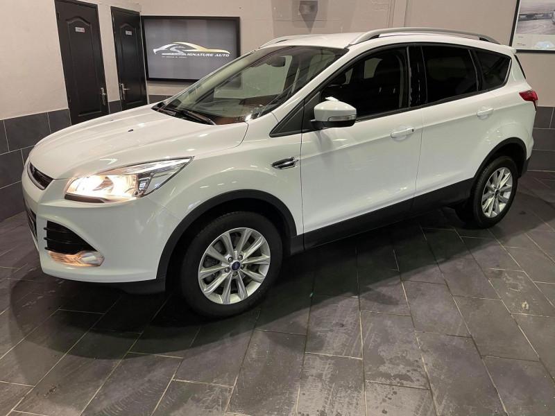Ford KUGA 2.0 TDCI 150CH TITANIUM Diesel BLANC Occasion à vendre